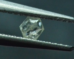 3.55mm 0.13ct Silver White Hexagon rose cut Diamond