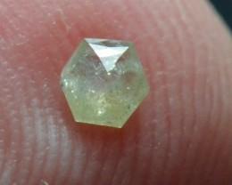 3.25mm 0.12ct  Silver White Hexagon rose cut Diamond