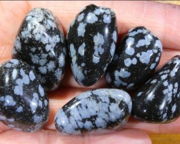 224 CTS SNOWFLAKE OBSIDIAN BEAD PARCEL   NP-2216