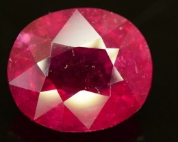 Certified 12.75 ct Natural Untreated Rubelite Tourmaline