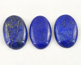 Genuine 144.50 Cts Oval Shape Blue Lapis Lazuli Cab Lot