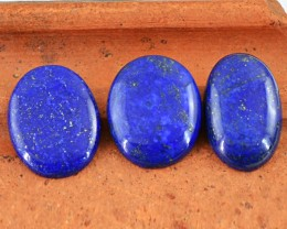 Genuine 148.00 Cts Blue Lapis Lazuli Oval Shape Cab Lot