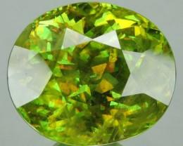 7.94 CTS SUPER BRIGHT RARE GREEN-COLOR SPHINE TITANITE NR
