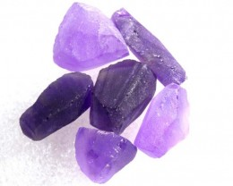 43.40CTS AMETHYST ROUGH PARCEL 6PCS RG-2136