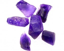 30.85CTS AMETHYST ROUGH PARCEL 6PCS RG-2139