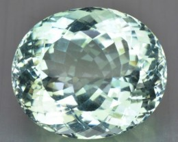 ~UNTREATED~ 81.21 Cts NATURAL TOPAZ OVAL MINT GREEN BRAZIL