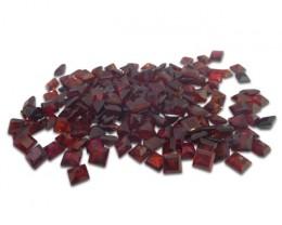 53 Stones - 10 ct Almandine Garnet 3mm Square - $1 No Reserve Auction
