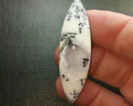 Dendritic Agate Marquise cabochon 49mm 32ct
