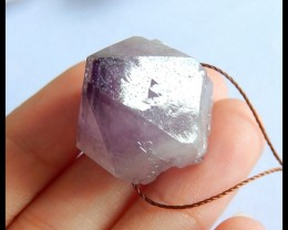 Natural Nugget Amethyst Pendant Bead,25x22x20mm,64.5ct(17050511)