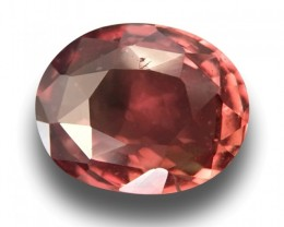 Natural Orange / pink / brown sapphire |New Certified| Sri Lanka