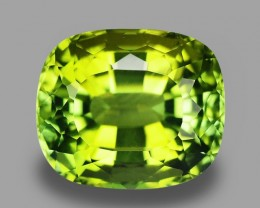 10.51 Cts Excellent Cut Lustrous Natural Green Tourmaline