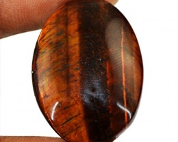 Genuine 27.40 Cts Oval Shape Red Power Tiger Eye Cab