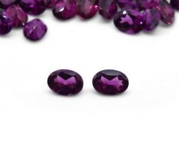 2 Stones - 1.82 ct Grape Garnet 7x5mm Oval - $1 No Reserve Auction