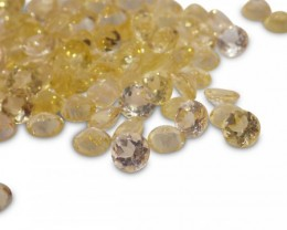 7 Stones - 1.89 ct Heliodor 4mm Round