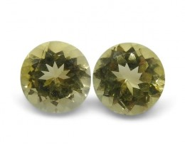 2 Stones - 1.46 ct Heliodor 6mm Round