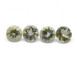 4 Stones - 1.84 ct Heliodor 5mm Round