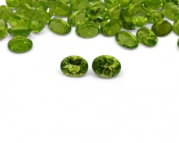 2 Stones - 2.86 ct Peridot 9x7mm Oval