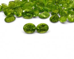 2 Stones - 5.8 ct Peridot 10x8mm Oval