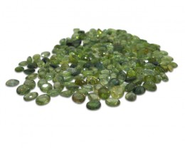 13 Stones - 4.9 ct Green Sapphire 5x4mm Oval - $1 No Reserve Auction