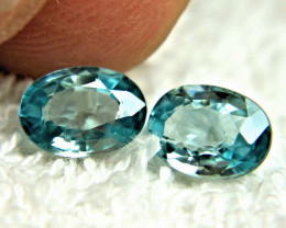3.44 Tcw. Matched VVS/VS Blue Zircons - Lovely