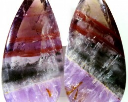 13.60 CTS AMETHYST ''PASSION'' PAIRS-BRAZIL  [STS615]