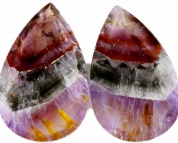 15.20 CTS AMETHYST ''PASSION'' PAIRS-BRAZIL  [STS613]