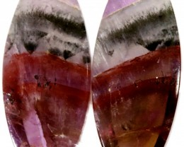 10.20 CTS AMETHYST ''PASSION'' PAIRS-BRAZIL  [STS619]