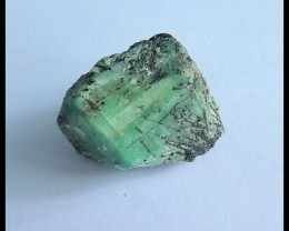 Natural Emerald Nugget Cabochon,Heated Treatment Specimen Gemstone,29x26x17