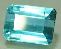 Untreated 3.0 ct Natural Indicolite Tourmaline from Afghanistan