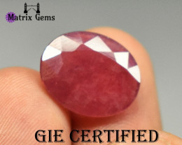7.63ct Pink Red RUBY Gemstone Mozambique