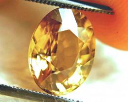 6.48 Carat Golden Yellow VVS1 Zircon - Superb