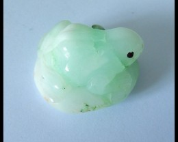 Natural Chrysoprase Carving Frog Cabochon,Beautiful Decoration,33x27x20mm,9