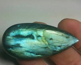 49mm Labradorite Heart shape cabochon 85ct