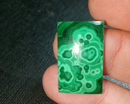 RESERVED 23mm Malachite cabochon 29ct 23 by 15 by 5mm Ethically sourced
