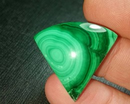 27mm Malachite arrow cabochon AAA  43ct 27 by 26 by 7mm ethically sourced