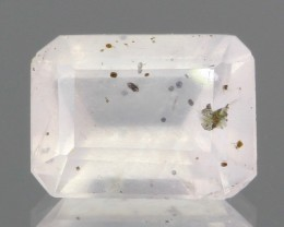 Rare Diopside Included Rose Quartz Faceted from Madagascar