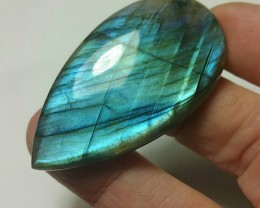 RESERVED 49mm labadorite cabochon drop shape 82ct