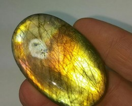 49mm Golden labadorite cabochon oval 98ct