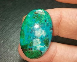 29mm 20ct Chrysocolla Malachite dioptase oval Cabochon