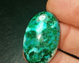 35ct 31mm chrysocolla malachite dioptase 31 by 19 by 6mm