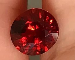 1.51ct Beautiful Red Orange Spessartite Garnet VVS Flawless gem
