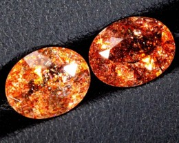 3.30CTS TAZMANIA SUNSTONE OVAL FACETED PAIRS TBM-1142