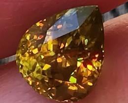 3.40ct Phenomenal Sphene - VVS Stunning Stone - Rare find