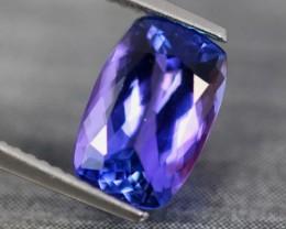 3.03Ct Natural VVS Violet Blue Cushion Cut Tanzanite