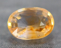1.04Ct Natural African Oval Cut Orangish Yellow Sapphire
