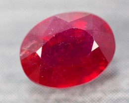2.94Ct Pigeon Blood Red Madagascar Oval Cut Ruby