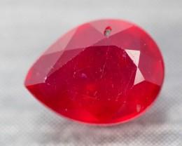 2.39Ct Pigeon Blood Red Madagascar Pear Cut Ruby