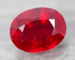 2.83Ct Pigeon Blood Red Madagascar Oval Cut Ruby