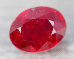 2.89Ct Pigeon Blood Red Madagascar Oval Cut Ruby
