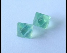 Natural Nugget Green Fluorite Earrings,14x11mm,17ct(17051103)